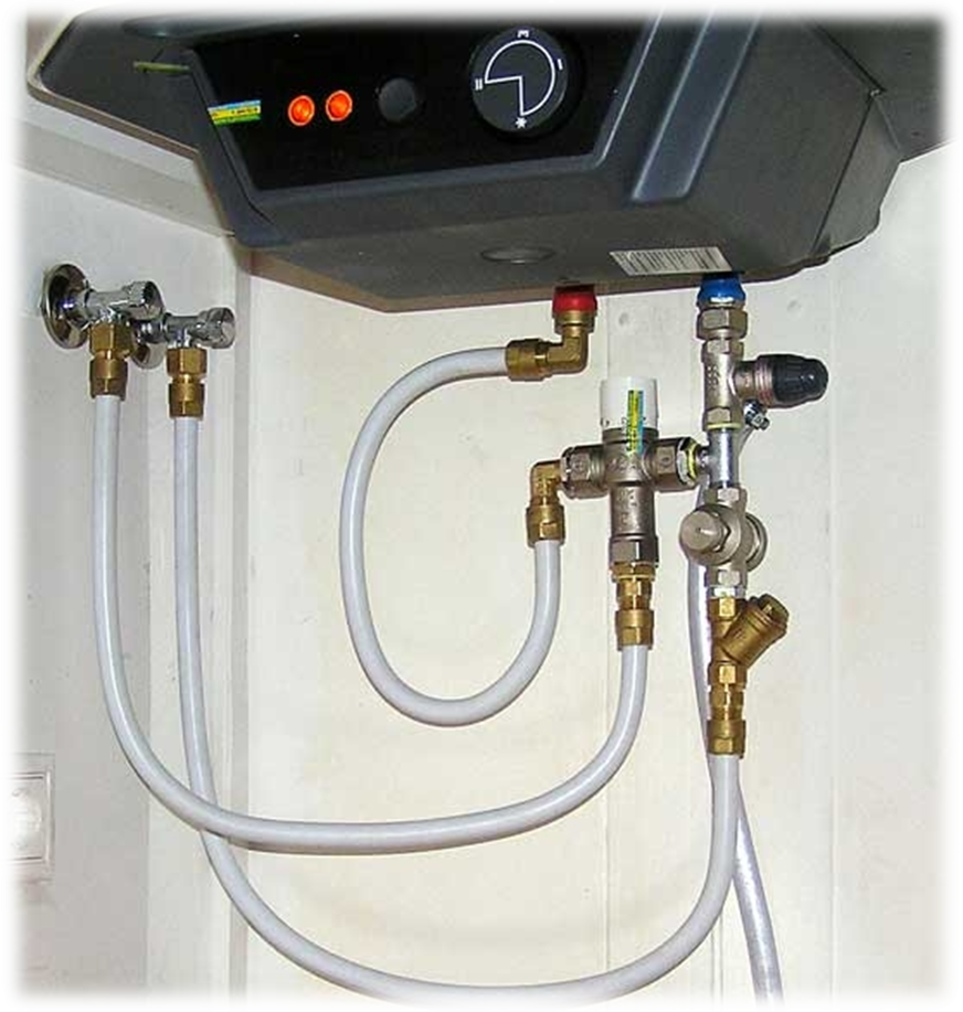 Установка накопительного электрического водонагревателя своими руками 4